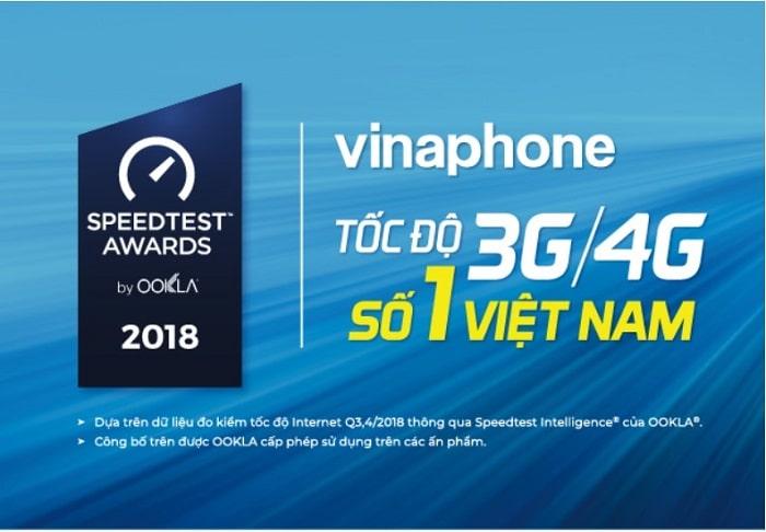 Vinaphone là nhà mạng có tốc độ 4G nhanh nhất