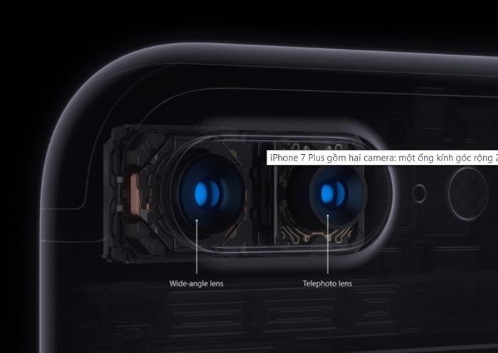 Camera kép gồm một ống kính chính và một ống kính phụ.