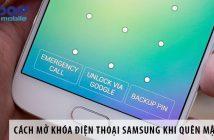 Cách tự mở khóa điện thoại Samsung khi quên mật khẩu