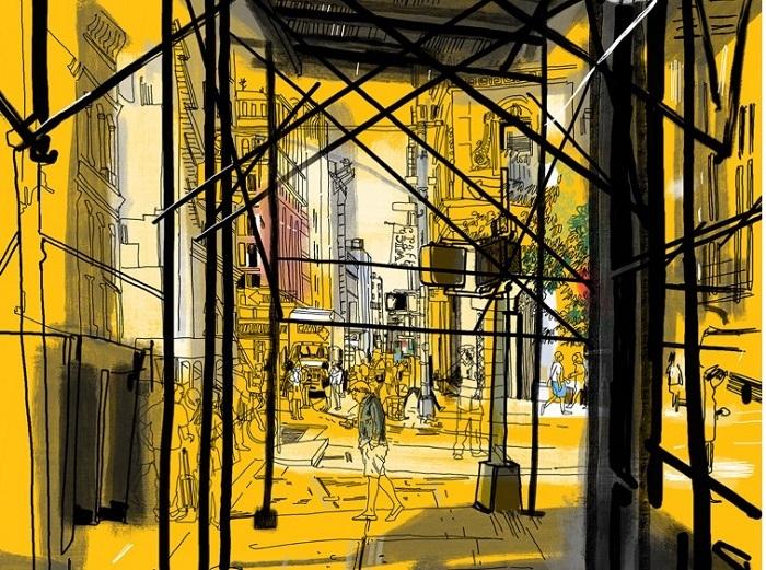 Một bức hoạ đường phố đậm chất New York - Vẽ bởi Patrick Vale