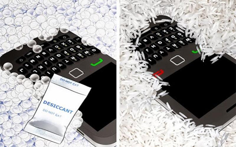 Để camera Samsung vào thùng gạo là 1 cách loại bỏ hơi nước hiệu quả