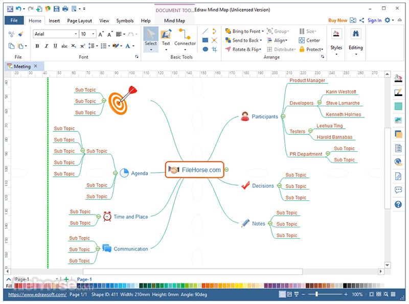 Edraw Mind Map với giao diện đơn giản, dễ sử dụng
