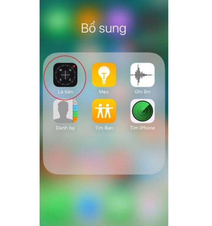 Ứng dụng la bàn trên Iphone
