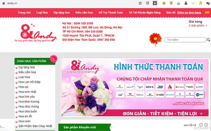 Điện hoa Andy Hà Nội