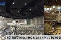 Thiết kế hội trường đại học 850m2 nên sử dụng ghế gì?