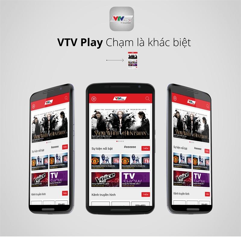 Ứng dụng xem tivi trên điện thoại Android - VTV play