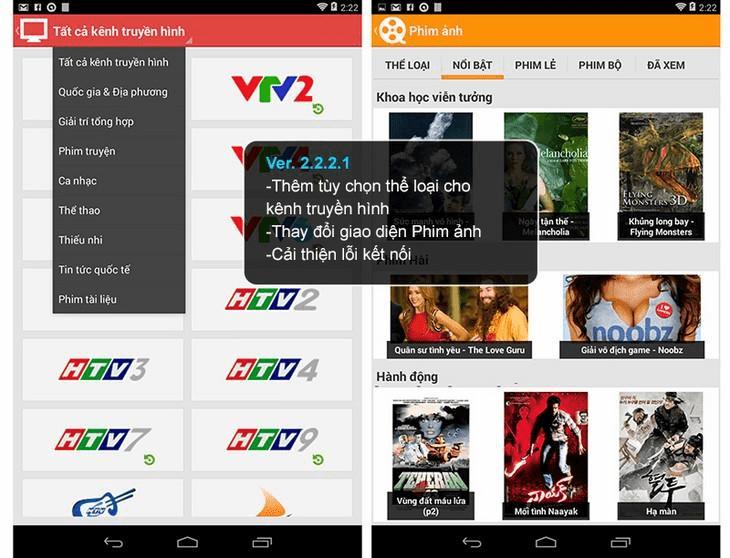 Ứng dụng xem tivi trên điện thoại Android - MyTV Net