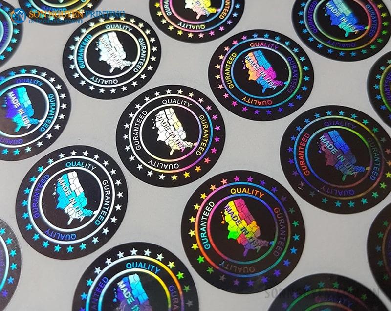 Tem bảo hành 7 màu được in tại Sơn Nguyên