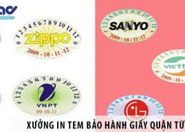 Xưởng in tem bảo hành decal giấy giá rẻ tại Quận Từ Liêm
