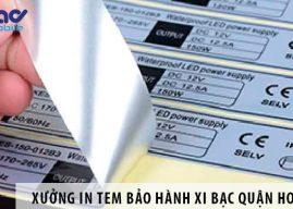 Xưởng in tem bảo hành decal xi bạc giá rẻ tại Quận Hoàng Mai